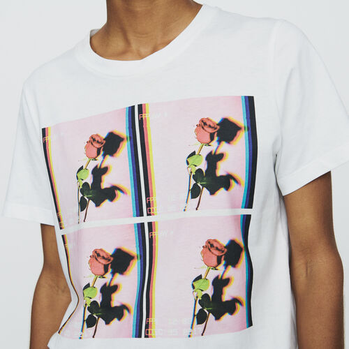 Camiseta estampada : T-Shirts color Blanco