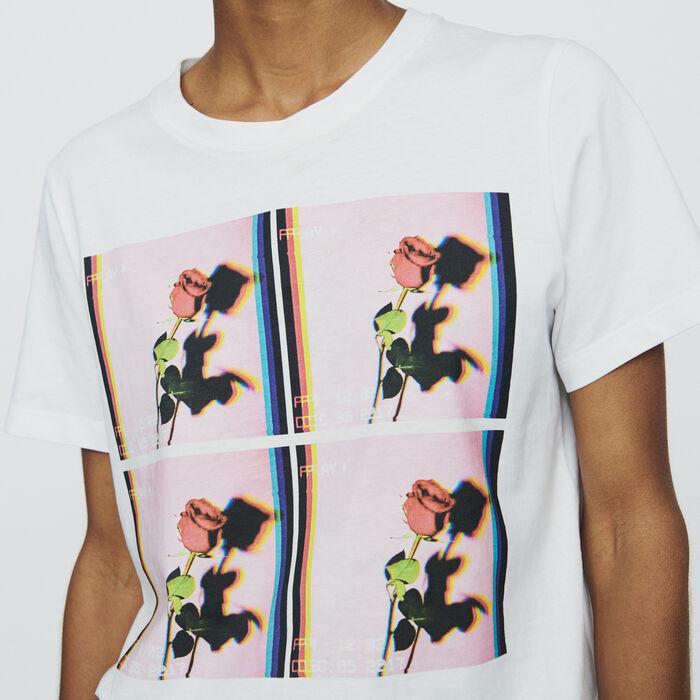 Camiseta estampada : T-Shirts color Blanco