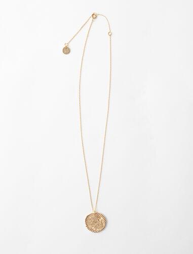 Collar de signo del Zodíaco Capricornio : Bisuteria color Latón Envejecido