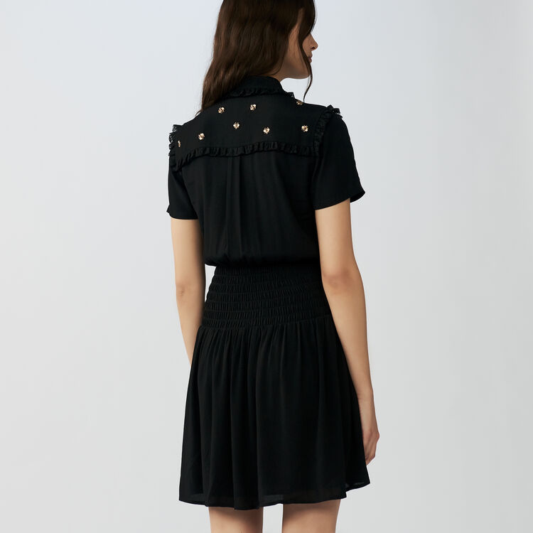 Dress embroidered bees : Vestidos color Negro