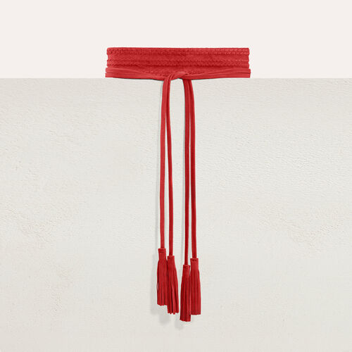 Anchos cinturón de ante : Cinturones color Negro