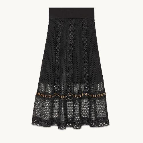 Falda larga de punto bordado - null - MAJE