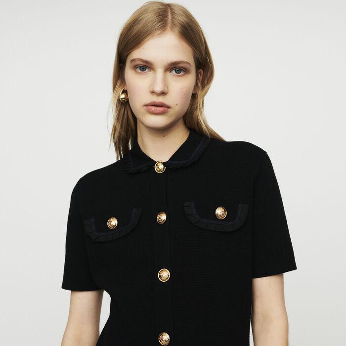 Verstido de punto parado : Vestidos color Negro