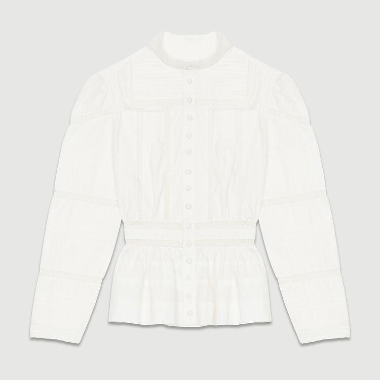 Camisa de popelina con bordados : Camisas color Blanco