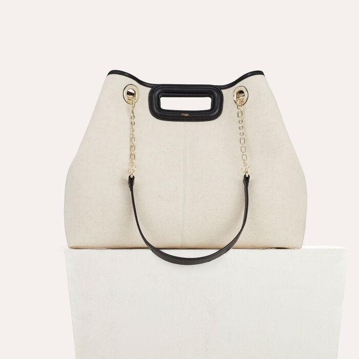 Bolsa M de lona con una cadena : Totes & M Walk color Bicolor