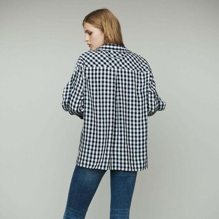 Blusa estampado vichy : Tops y Camisas color CARREAUX
