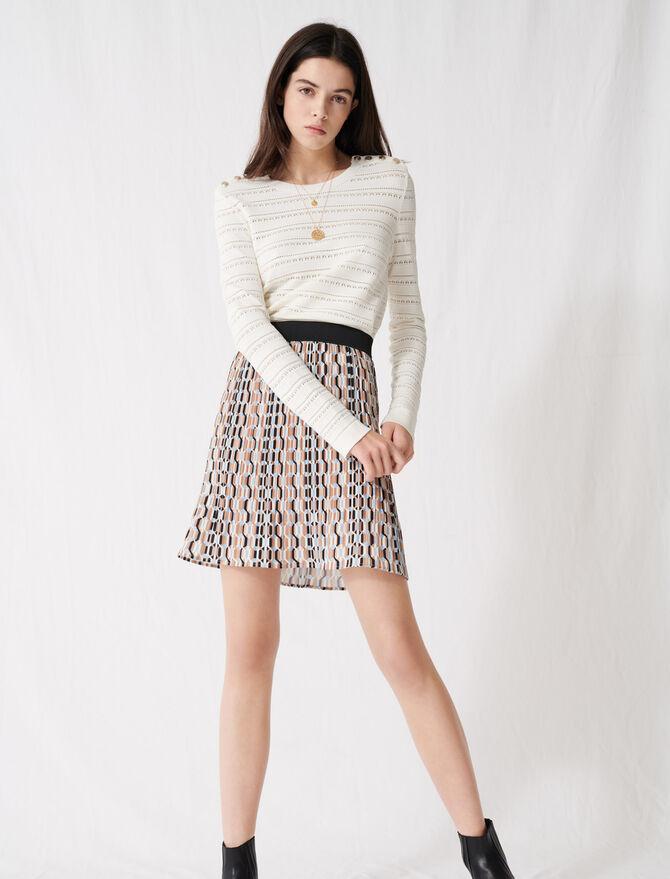 Falda corta plisada estampado gráfico - Faldas y shorts - MAJE