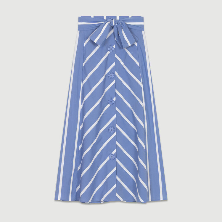 Falda larga de rayas : Twisted stripes color Azul