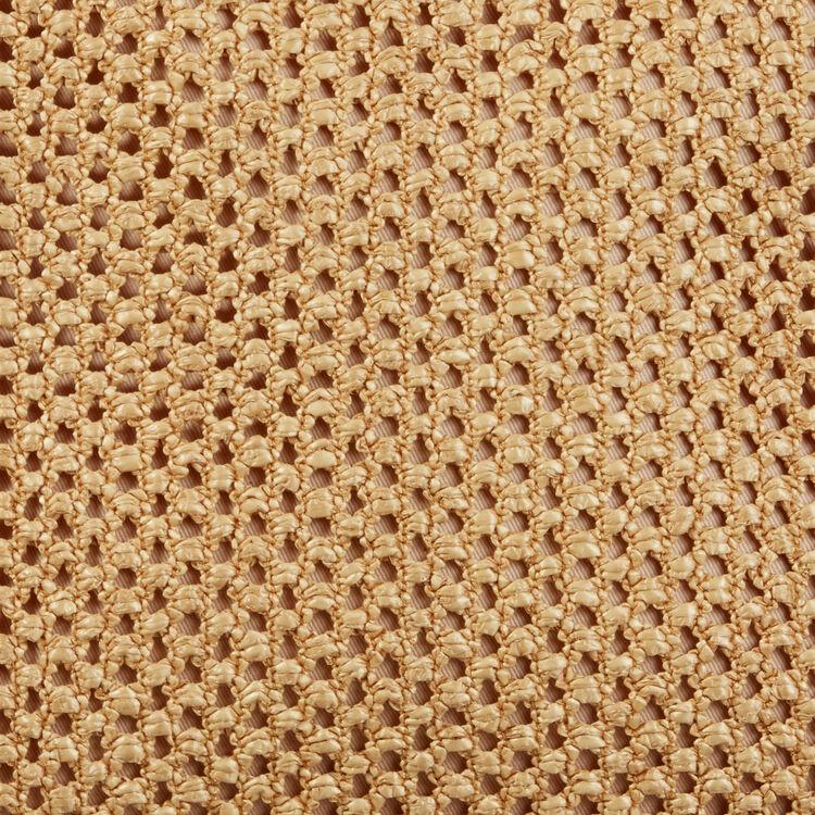 Bolso trenzado con flecos : Bolsos M color NATUREL