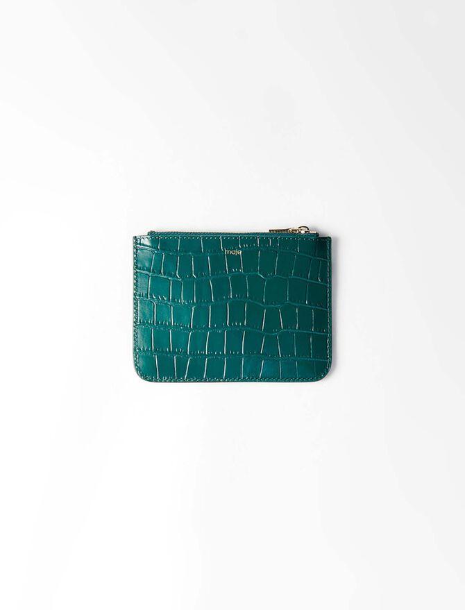 Bolsillo con cremallera cuero granulado - Pequeños artículos de cuero - MAJE