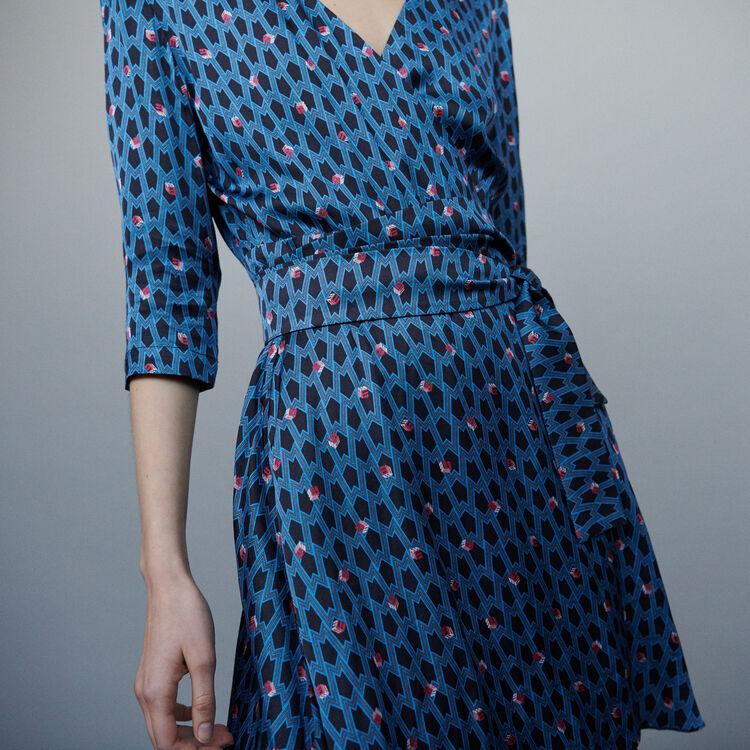Vestido estampado monograma : Vestidos color IMPRIME