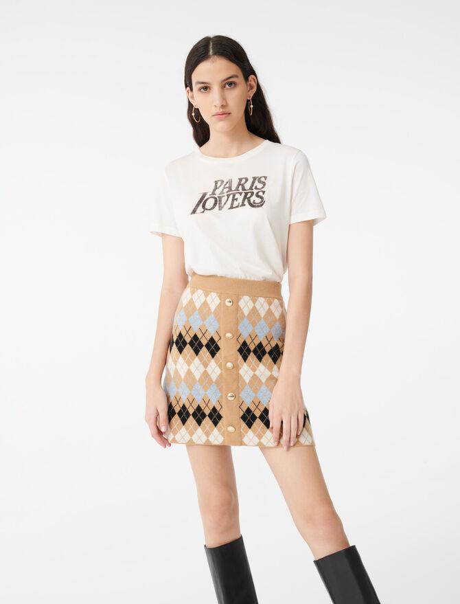 Falda de jacquard abotonada - Faldas y shorts - MAJE