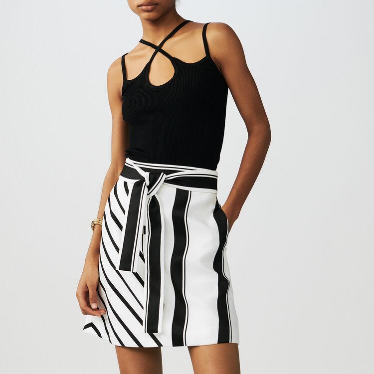 Falda trapecio de rayas : Faldas y shorts color Rayas