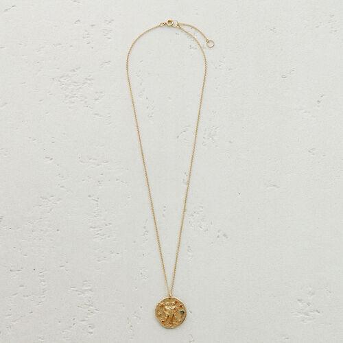 Collar de signo del Zodíaco Géminis : Medallones color OR