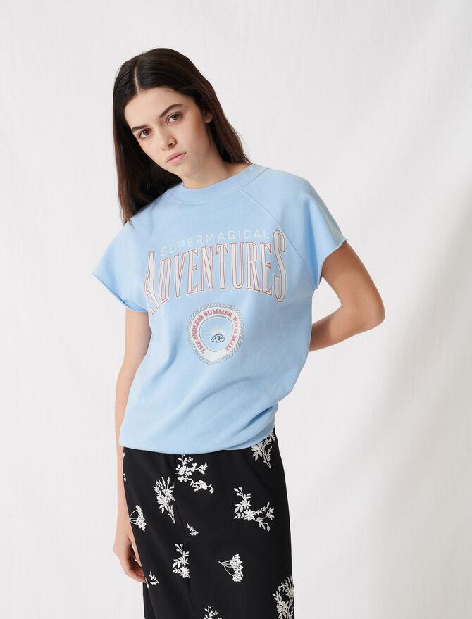 Sudadera azul cielo serigrafiada - T-Shirts - MAJE