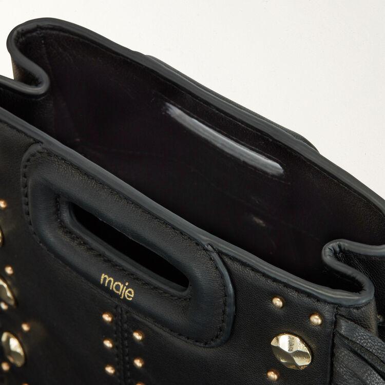 Bolso M Mini de cuero y tachuelas : M Mini color NEGRO