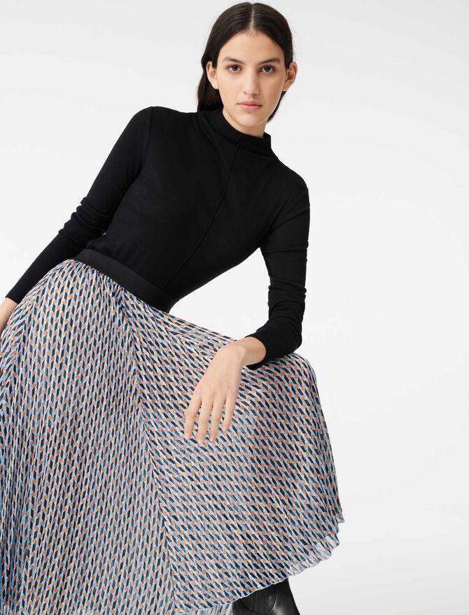 Falda de jacquard y lúrex estampada - Faldas y shorts - MAJE
