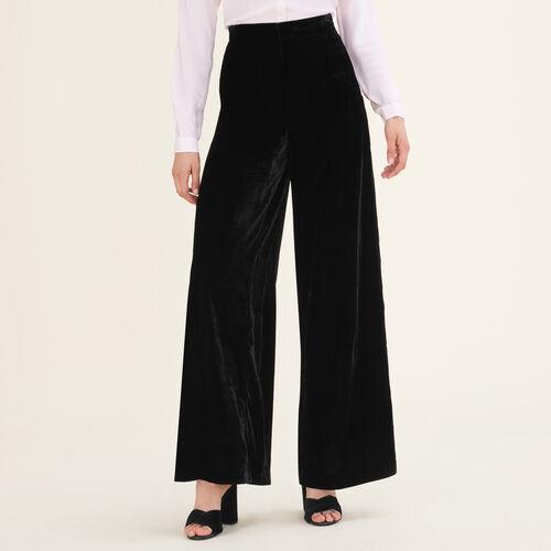 Pantalón ancho de terciopelo - Pantalones - MAJE