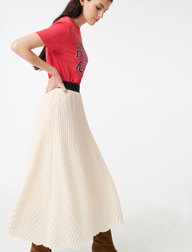 Falda plisada geométrica - Faldas y shorts - MAJE