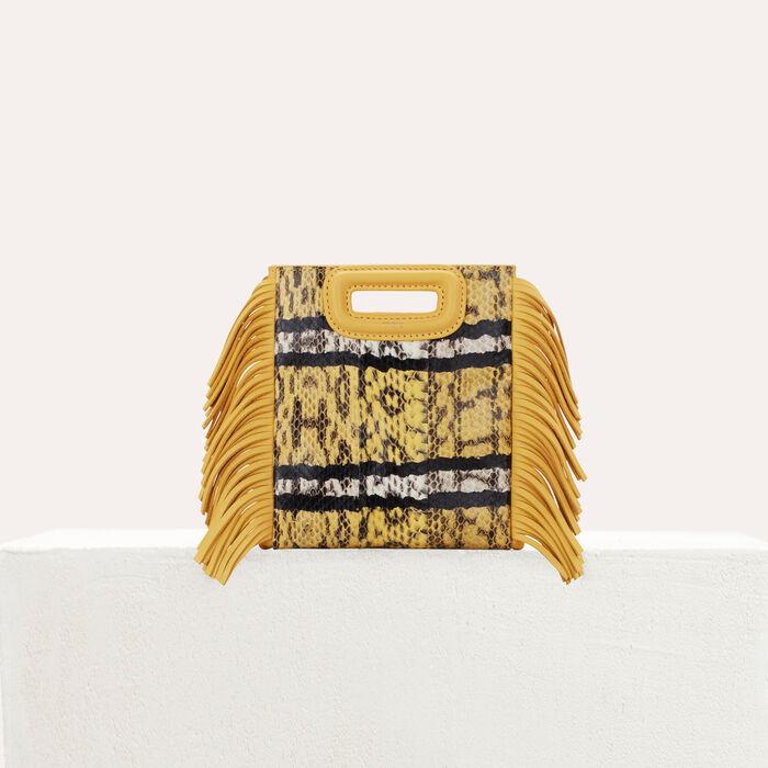 M Mini bag in water snake : M Mini color Amarillo
