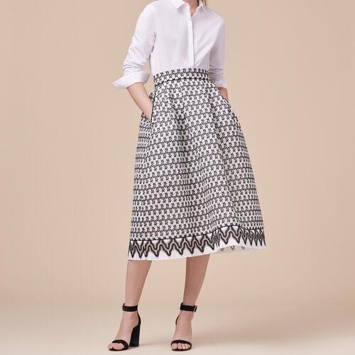 Falda de largo medio de encaje : Faldas y shorts color Bicolor