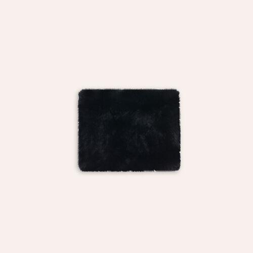 Bufanda tubular de piel de conejo : Pañuelos y Bufandas color Negro