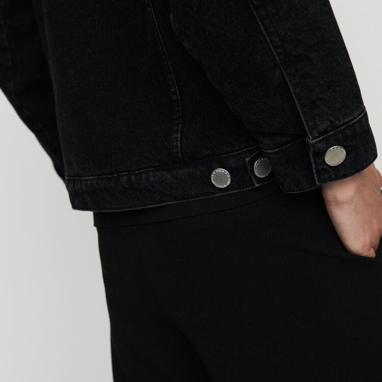 Chaqueta denim con detalles : Cazadoras color Negro