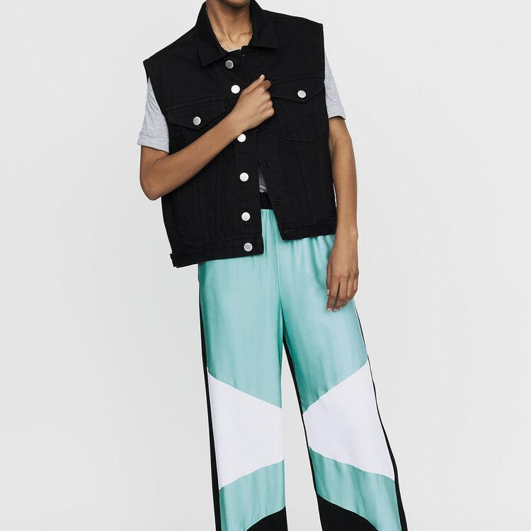 Pantalón ancho multicolor : Pantalones color Multicolor