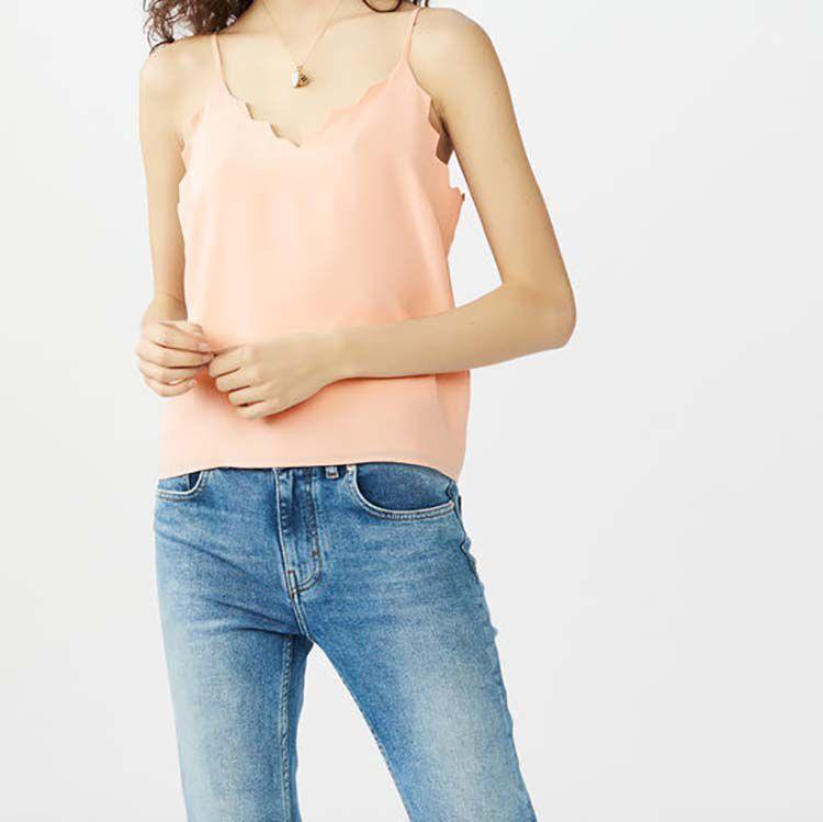 Caraco de crepé : Tops color Rosa