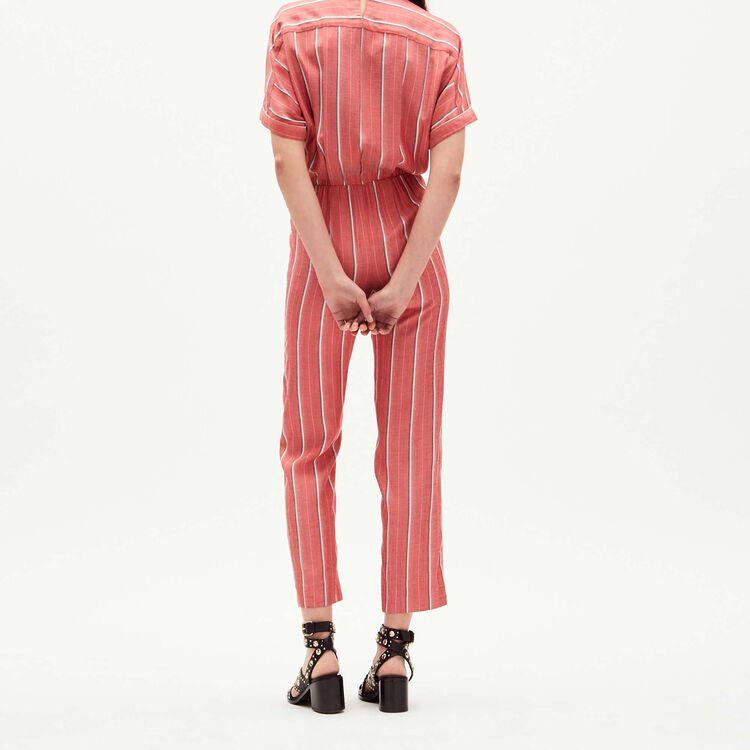 Mono pantalón de jacquard rayado : Monos color Rayas