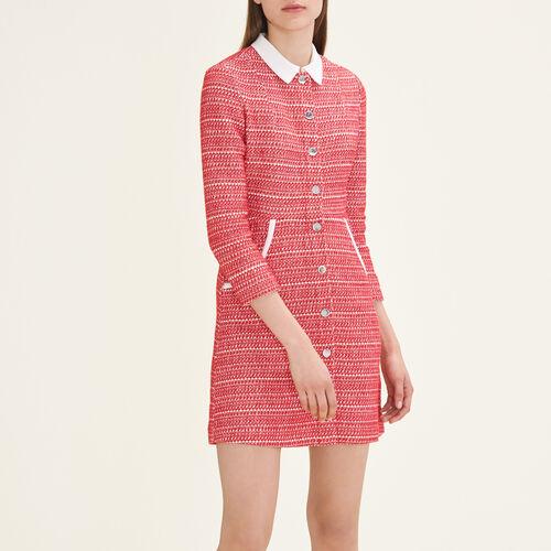 Vestido de jacquard : Vestidos color Rojo