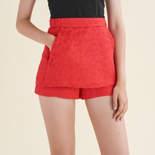 Short de jacquard, motivos de leopardo - Faldas y shorts - MAJE