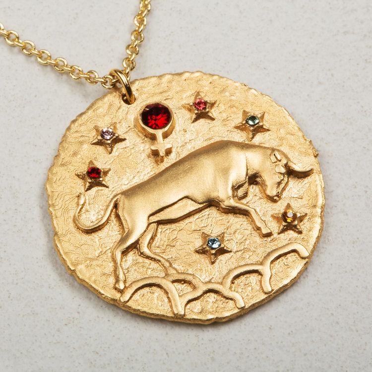 Collar de signo del Zodíaco Tauro : Bisuteria color OR