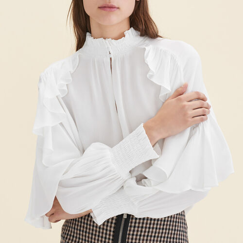 Blusa vaporosa con volantes - Camisas - MAJE