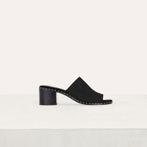 Mules con tacón en gamuza : Zapatos de tacón color Terracota