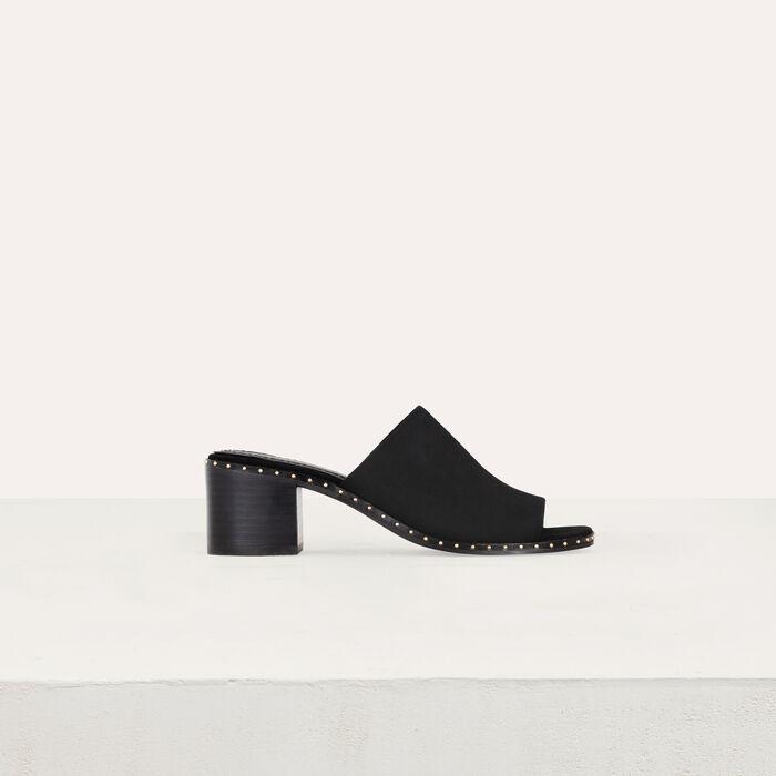 Mules con taco´n en gamuza : Zapatos de tacón color Terracota