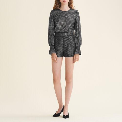 Monoshort de tul y lúrex - Faldas y shorts - MAJE