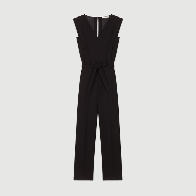 Mono-pantalón sin mangas : Pantalones color Negro