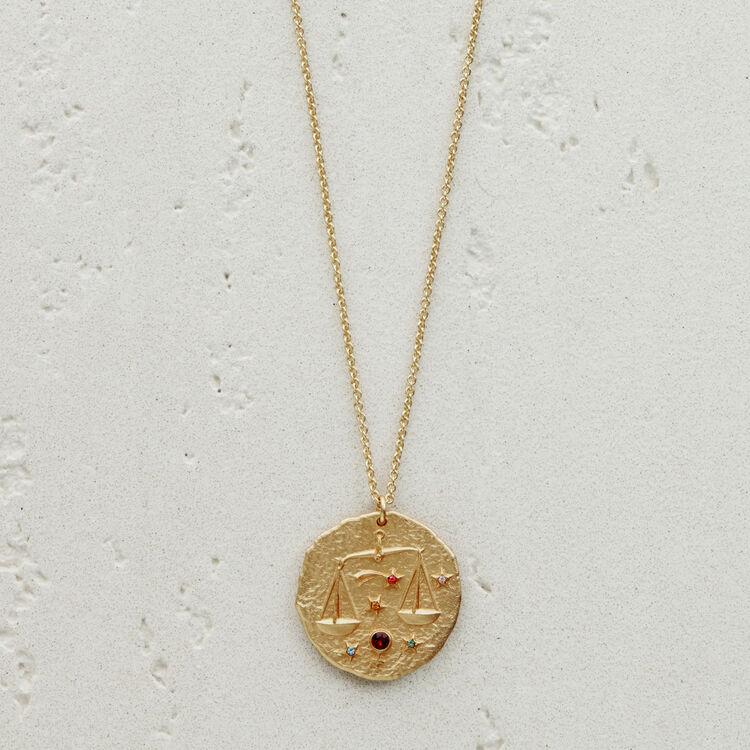 Collar de signo del Zodíaco Libra : Medallones color OR