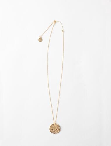 Collar de signo del Zodíaco Libra : Bisuteria color Latón Envejecido