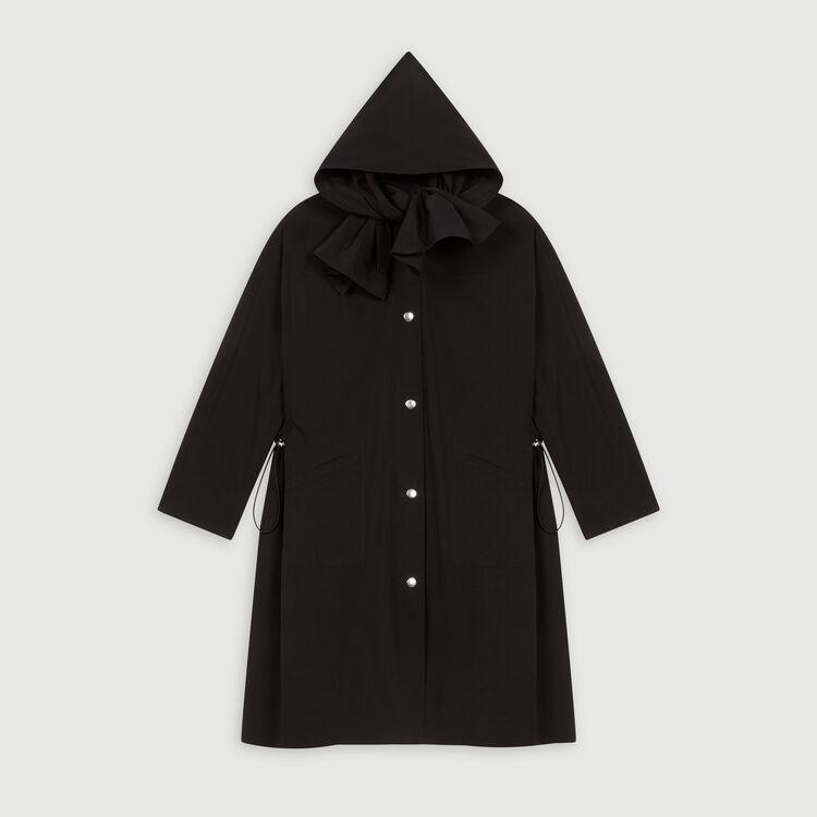 Parka tipo rompevientos a capucha : Abrigos y Cazadoras color Negro
