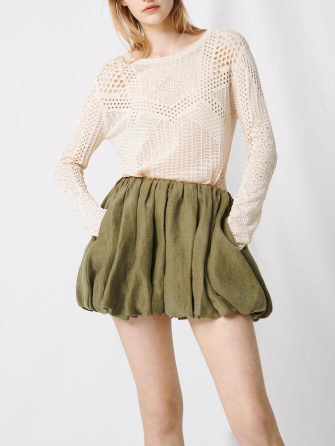 Falda corta drapeada - Faldas y shorts - MAJE