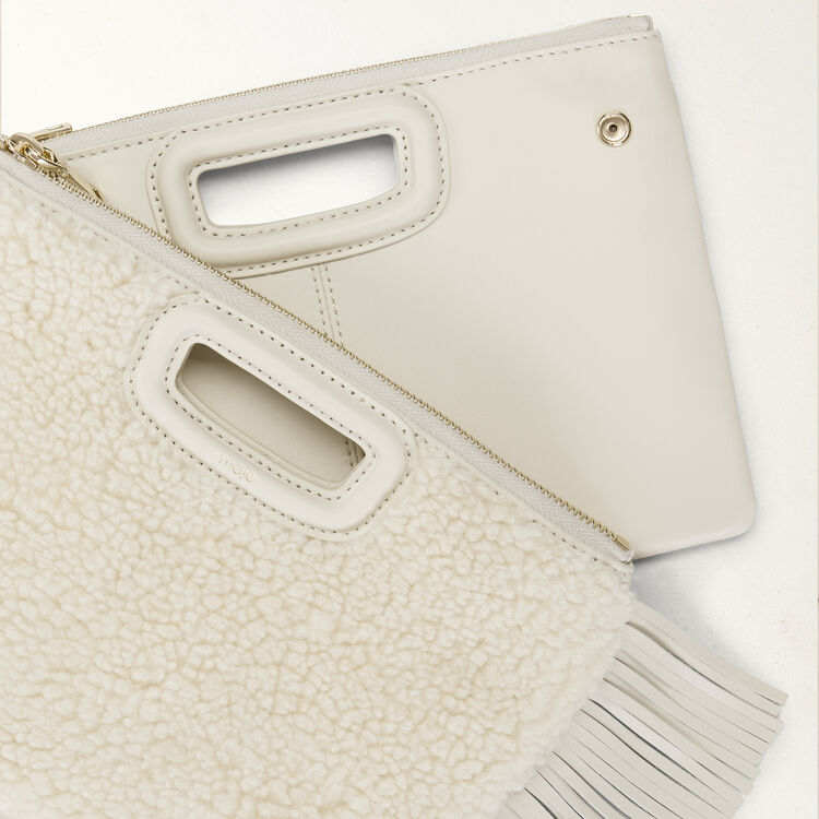Cartera M Duo en shearling : M Duo color Blanco