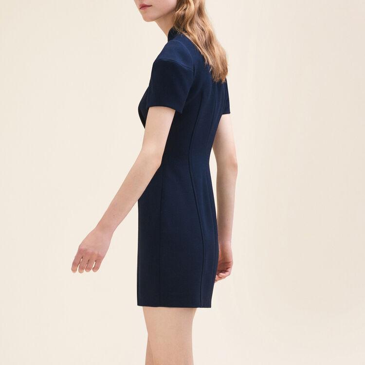 Kurzes, strukturiertes Kleid : Vestidos color Azul Marino