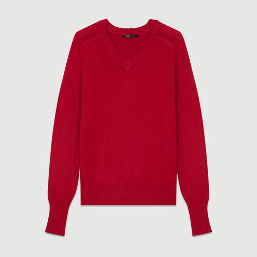 Jersey oversize de lana y cachemira : Malla color Frambuesa