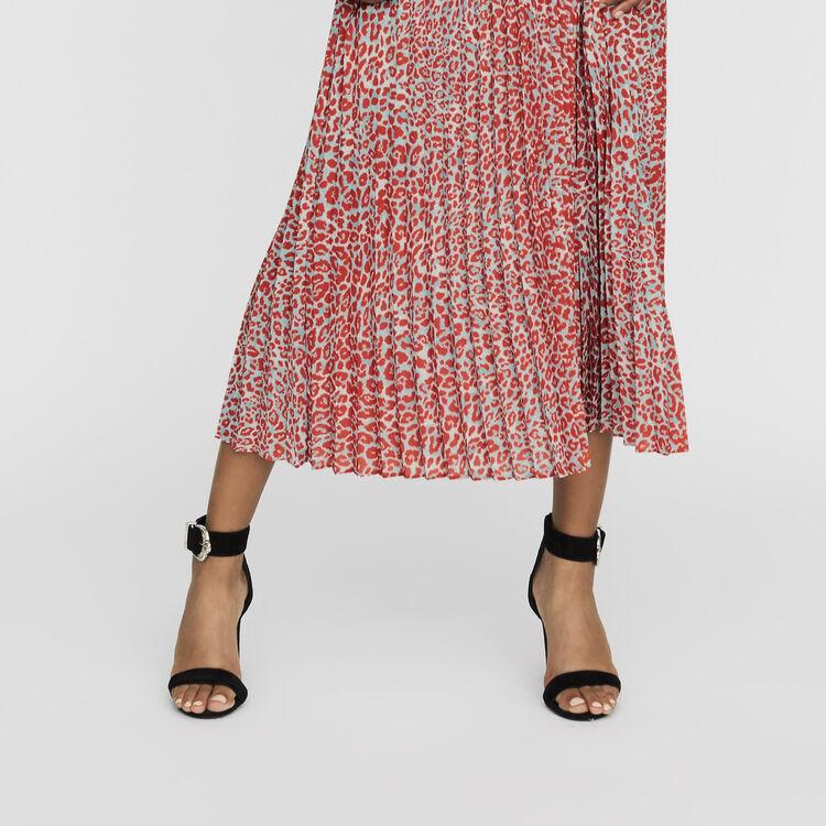 Vestido largo plisado estampado flroal : Vestidos color IMPRIME