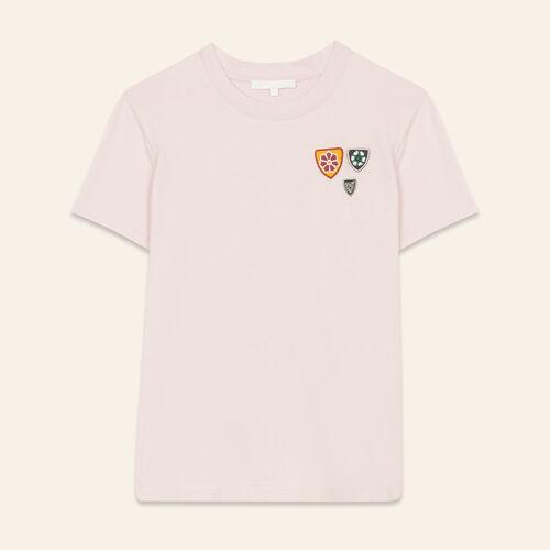 Camiseta básica de algodón : T-shirts color Rosa