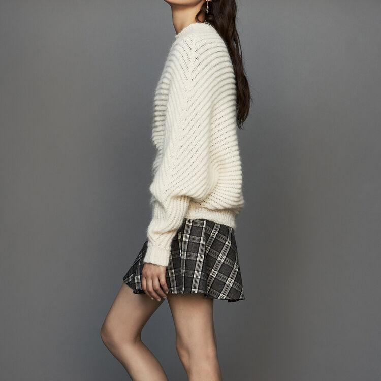 Jersey corto de corte oversize : Malla color ECRU