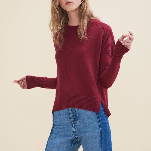 Jersey de cachemira : Jerseys y cárdigans color Burdeos