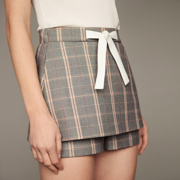 Short a cuadros : Faldas y shorts color CARREAUX